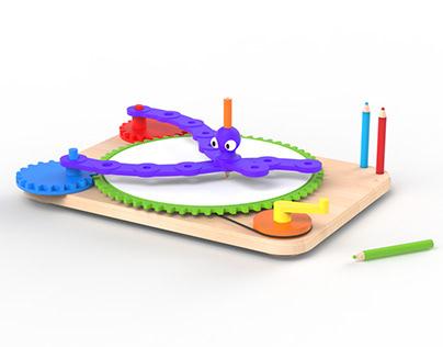 DrawTopus - Spirograph drawing machine for kids