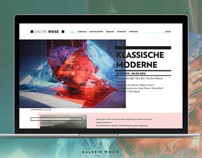 """""""Galerie Weise"""" Website"""