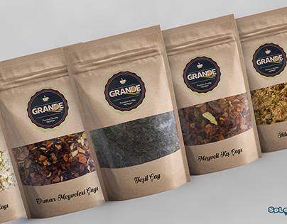 Grande Bitki Çayları Ambalaj Tasarımı