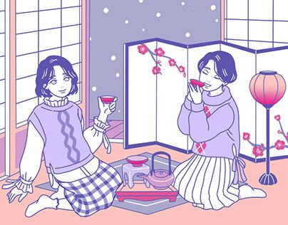 Original | Snowy new year