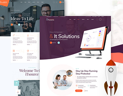 iTsource - IT Solutions & Services Website Design PSD T