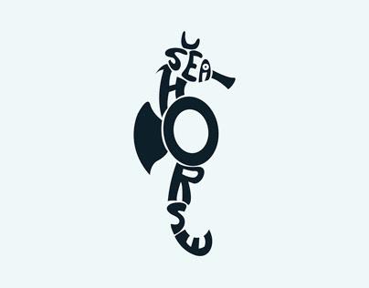 Seahorse Calligraphic Illustration