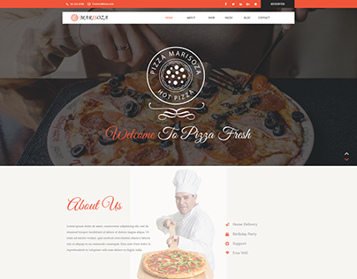 MARISOZA – Pizza One Page Restaurant PSD Template