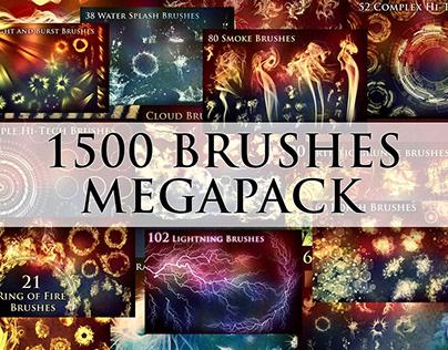 1500+ Photoshop Brushes Megapack