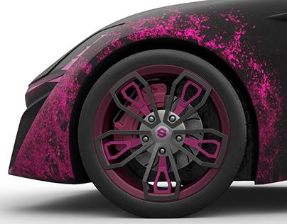 Pink Widow - X-TAON: THE ART CAR TEXTURING CONTEST