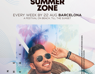 Summer Zone Flyer Template (PSD)