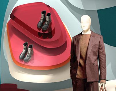 Window & Pop Up Concept for Ermenegildo Zegna