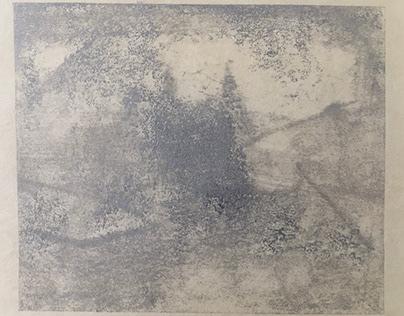 Monoprint in silver