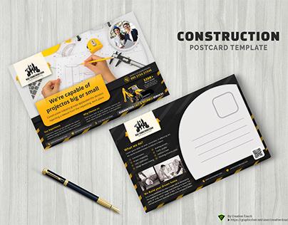 Construction postcard Template