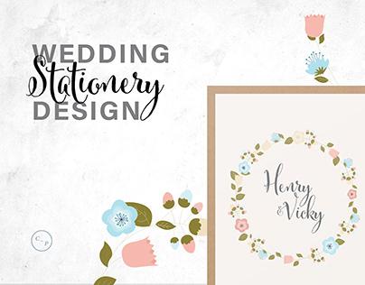 Henry and Vicky Wedding Stationery
