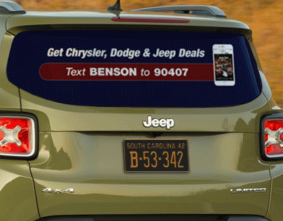Benson CDJ Table Tent & Car Decal