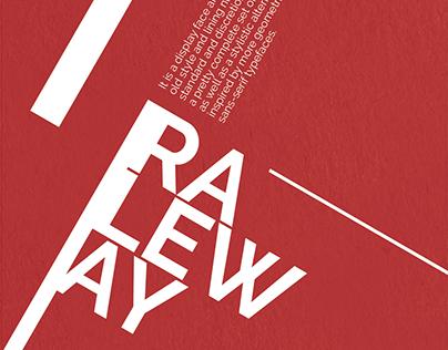 RALEWAY - TYPEFACE POSTER