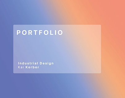 Portfolio Industrial Design