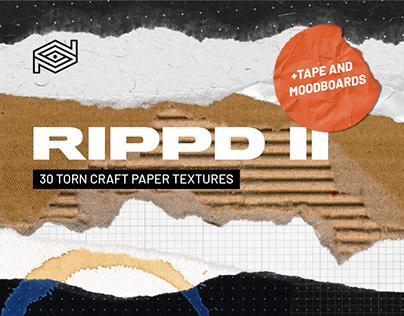 RIPPD II /30 Hi-Res Torn Craft Paper Bundle