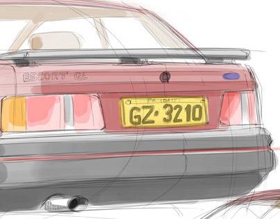 FORD Escort 89 [free quick sketch]