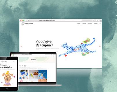 Site internet pour illustratrice