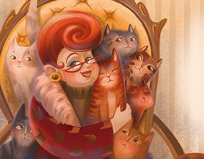 "Children's book ""The secret life of a cat"""