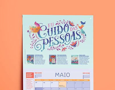 Lettering e Ilustração • Calendário Sorria 2019