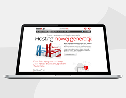 New webhosting services - landing page (2013)