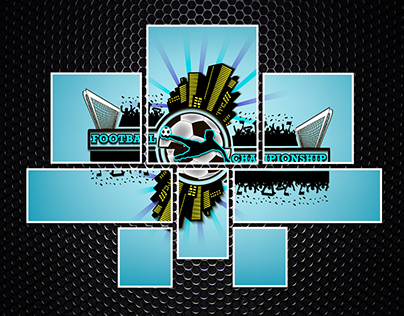 Logo football with urban elements
