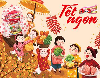 Illustration serie for Aji-ngon (Jan.2020)