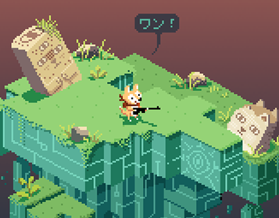 (Pixel Art) Ajiaco dog is lost process