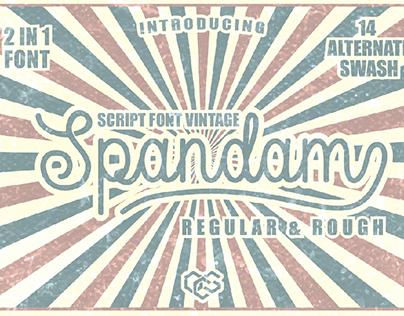 Spandam Font