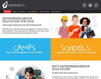 VentureLab Web Site UI Redesign Project