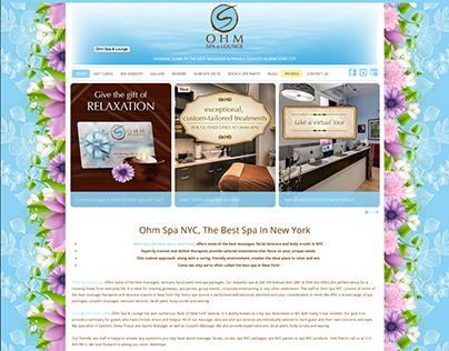 Ohm Spa & Lounge, NYC - Website Design