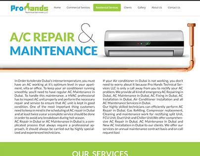 Prohands Website Desing