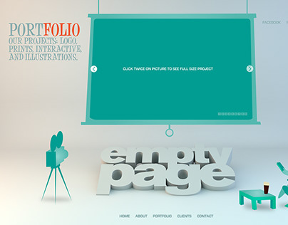 Emptypage website concept