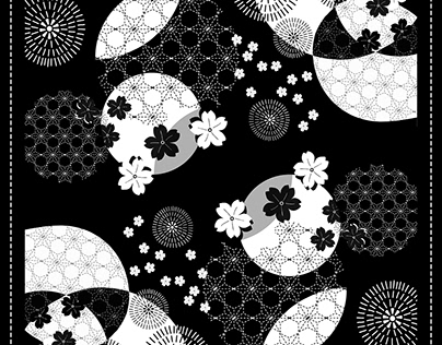 Pattern Design for Scarf Products   2017