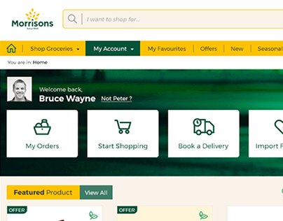 Morrisons online shopping website redesign