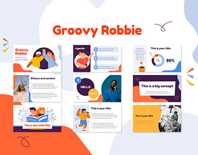 Groovy Robbie Illustrated PowerPoint Template