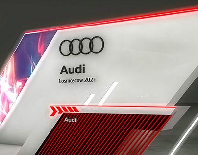 Дизайн-концепт выставочного стенда Audi Cosmoscow 2021
