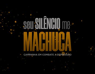 """Branding - Campanha """"seu SILÊNCIO me MACHUCA"""""""