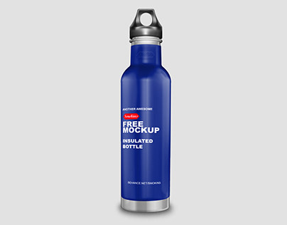 Insulated Bottle Free Mockup