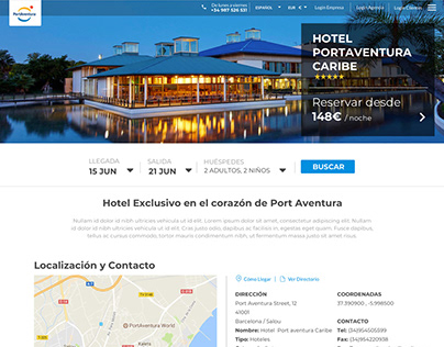Web Design Proposal Portaventura Bev4