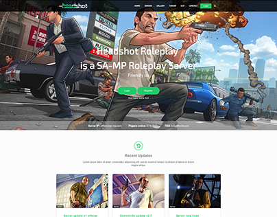 GTA5 Rolelpay Website Template + UCP Design