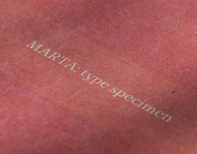 MARTA: type specimen