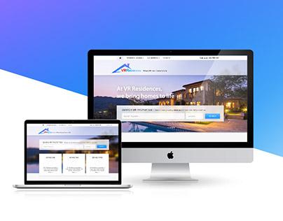 VR Residences Web Design