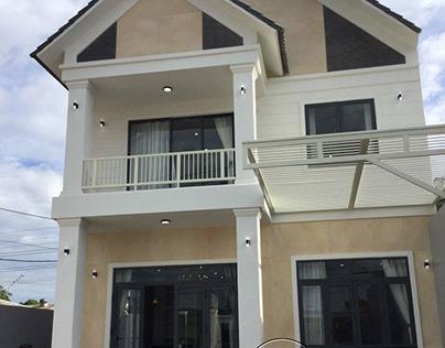 Thiết kế thi công nhà đẹp 2 tầng mái thái 130m2