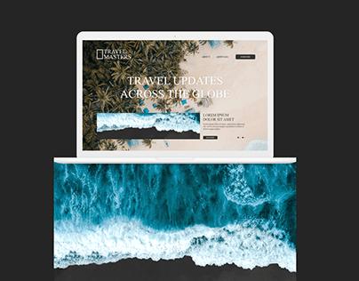 Travel Magazine Website Design Concept