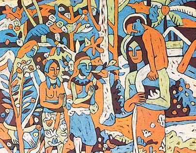 Paul Gauguin. remix, oil on canvas.