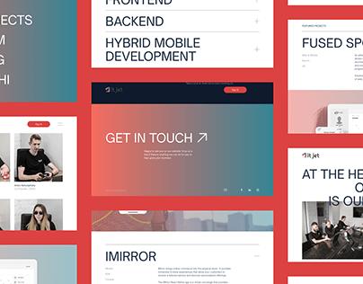 Software development company website