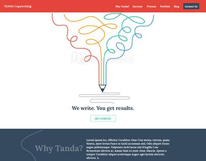 Copywriting Website Landing Page