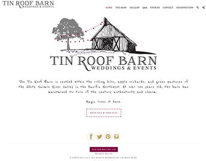 Tin Roof Barn, Weddings & Events Venue, website design