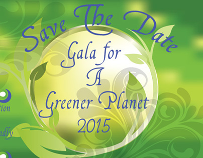 Green Gala_save the date postcard