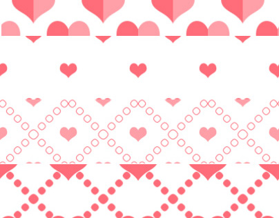 Photoshop Heart Patterns