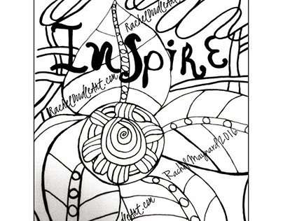 Original doodle ink art creations and illustrations.